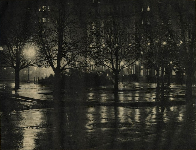 Alfred Stieglitz - Reflections night (1895)